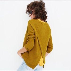 Madewell XXS golden yellow cross back sweater